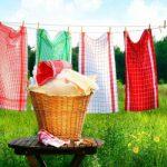 Как отстирать кухонные полотенца от застарелых пятен.