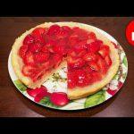 Что приготовить к чаю — вкусный пирог с клубникой в мультиварке #рецепты для мультиварки