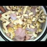 Как приготовить блюдо на пару. Курица, стручковая фасоль и шампиньоны