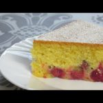 Рецепты Алины. Вкуснейший ,быстрый вишнёвый пирог .Выпечка в мультиварке.