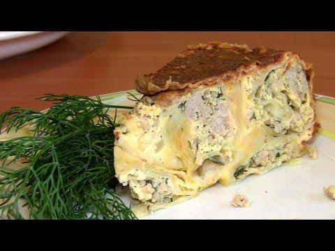 Пирог фарш в лаваше в духовке рецепт с